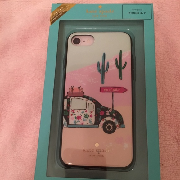 separation shoes 7aec7 55769 New Kate Spade Out of Office Car IPhone Case 8/7 NWT